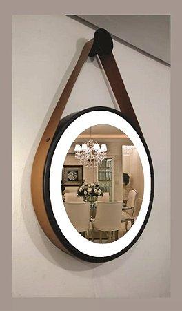 Espelho Decorativo com cinta de couro Lâmpada G9 Spechio 60cm
