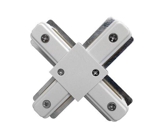 Conector X trilho Eletrificado Branco Exclusividade