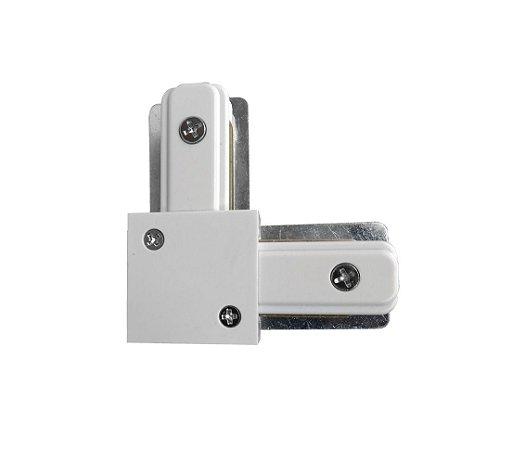 Conector L trilho Eletrificado Branco Confira