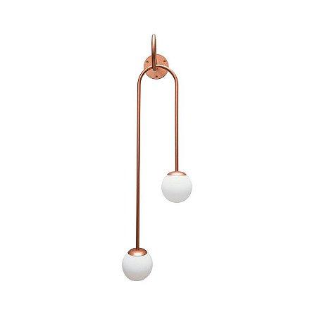 Arandela Pendulo 2 Globos 1,70mt Exclusividade