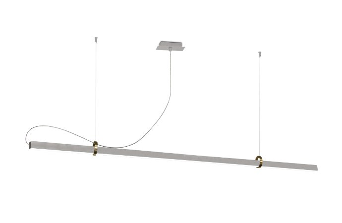 Pendente Office Luz Direta e Indireta 3000k Led 3 X 1,20mt Aproveite