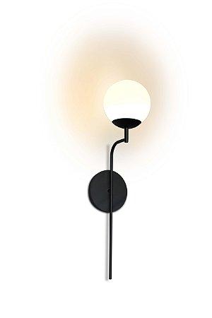 Arandela Torch Globo de Vidro Fosco Aproveite