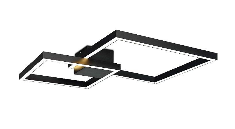 Plafon Case Duplo 3000K com Led Integrado 40w Bivolt 30 x 50cm Confira