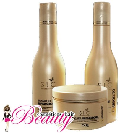 12007fa4a Kit Absoluto SIC Professional (Shampoo + Leave-in + Máscara ...