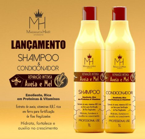 Kit Aveia e Mel 1L ( Shampoo e Condicionado