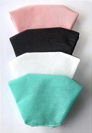 Kit com 10 Máscaras de Proteção Laváveis Diversas Cores Não Descartáveis