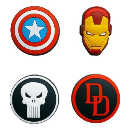 Ímã Kit Decorativo Marvel - Icones