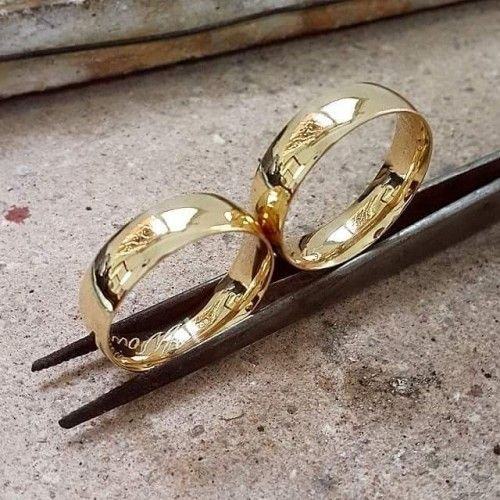 Alianças ouro18k - 6.0grs - 4.0mm de largura - frete grátis