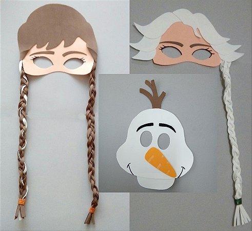 Máscaras da Frozen de eva