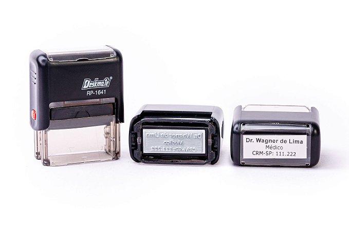 Carimbo Automático Personalizado - Deskmate RP 1641  (16x41mm )