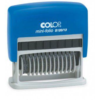 Carimbo Numerador Colop Mini-Folio S 120/13 - 4x42 mm (Numerador de 13 dígitos)