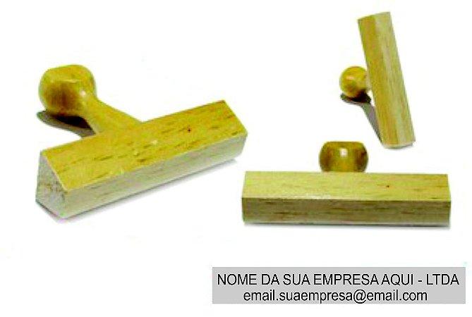 Carimbo de Madeira Assinatura - 10x70 mm (Padrão da Receita Federal para Assinatura PJ)