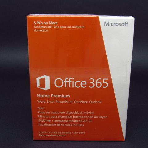 Pacote Office 365 - Assinatura 1 ano - Licença doméstica