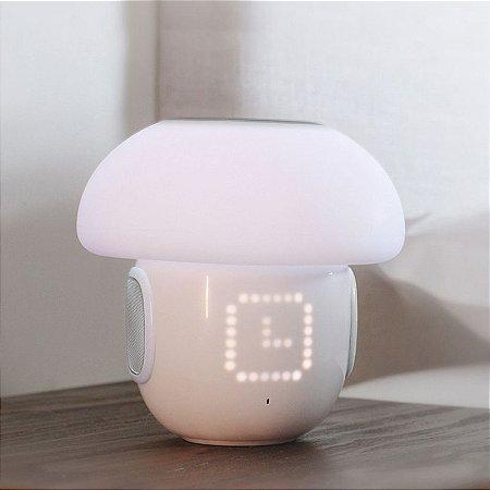Caixa De Som / Luminária De Mesa / Speaker / Alarme - Bluetooth - Mushroom