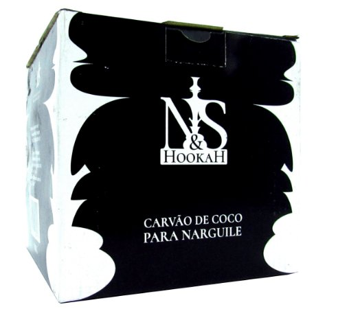Carvão de coco para narguile - N&S Hookah - 1kg *** CONSULTE NOSSOS PREÇOS PARA ATACADO ***