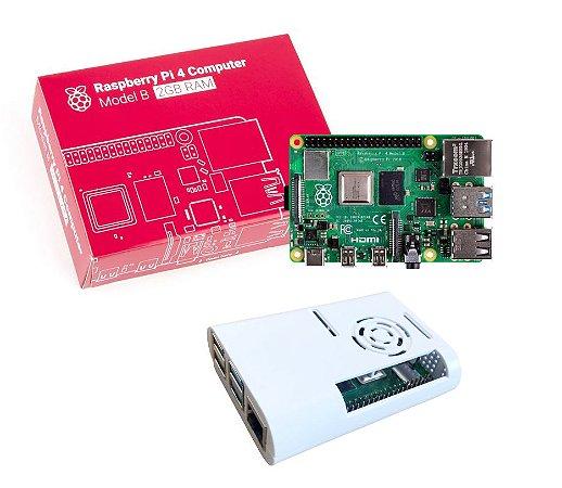 Raspberry Pi 4 Model B 2GB com case