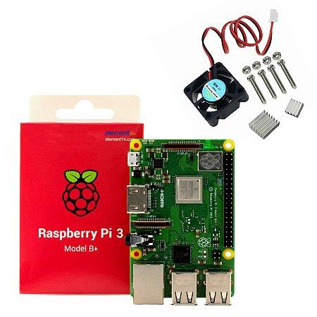 KIT - Raspberry Pi 3 Model B+ / dissipador com cooler