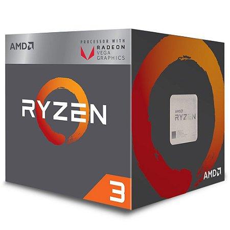 Processador AMD Ryzen 3 2200G, Quad Core, Cache 6MB, 3.5GHz (3.7GHz Max Turbo), Radeon VEGA, AM4 - YD2200C5FBBOX