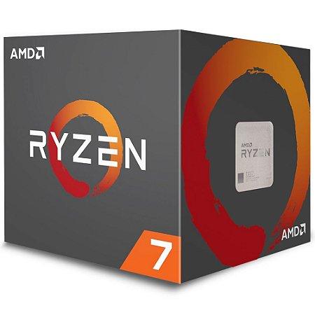 Processador AMD Ryzen 7 2700 c/ Wraith Spire Cooler, Octa Core, Cache 20MB, 3.2GHz (Max Turbo 4.1GHz) AM4 -YD2700BBAFBOX