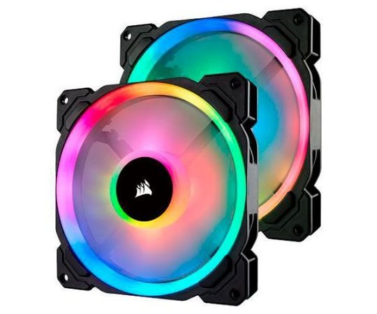 Kit Cooler Para Gabinete Corsair Co-9050074-ww Ll140 Rgb Led Pwm 140mm Lighting Node Pro Pack Com 02 Unidades