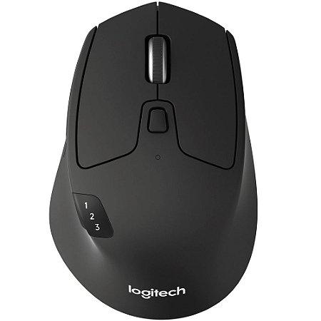 Mouse Logitech M720 Sem Fio Triathlon Tecnologia Flow Unifying Preto 1000DPI