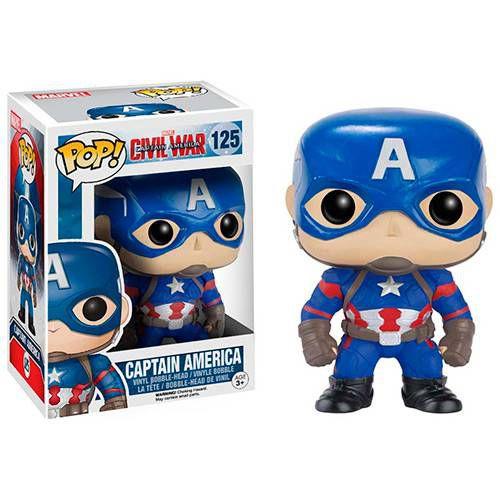 Funko Pop Marvel: Capitão América 3 - 125