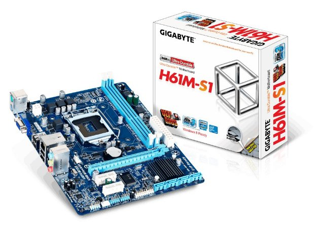 Placa Mãe Gigabyte Ga-h61m-s1 Ddr3 Socket Lga 1155 Intel