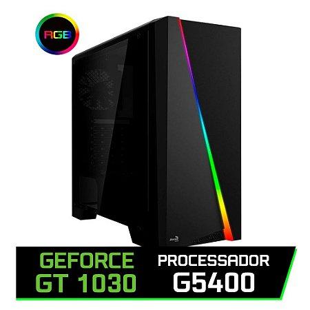 PC GAMER FLITZ - PENTIUM G5400, H310M, 8GB DDR4, GT 1030, VS 450, SSD 240GB, GABINETE WAVE