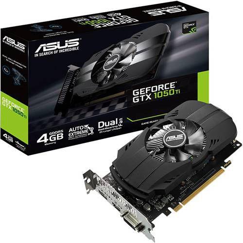 Placa de Video GeForce GTX 1050 ti 4gb Ph-gtx1050ti-4g Ddr5 - Asus