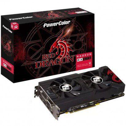 Placa de Vídeo PowerColor Red Dragon AMD Radeon RX 570 4GB, GDDR5 - AXRX 570 4GBD5-3DHDV2/OC
