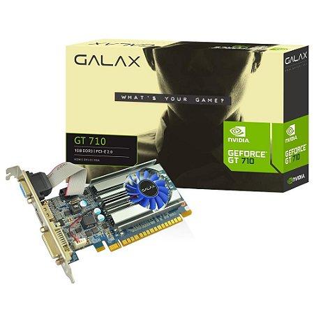 PLACA DE VÍDEO GT 710 1GB D3 64B NVIDIA  - GALAX