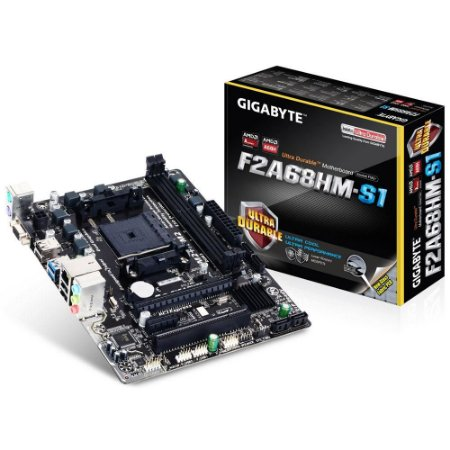 Placa mãe P/ AMD FM2+/FM2 Gigabyte GA-F2A68HM-S1 DDR3