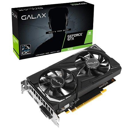 PLACA DE VÍDEO GTX1650 4GB 1CLICK OC GALAX