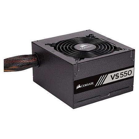 Fonte Corsair 550W VS550 BI AUTO ATX12V/ PFC/ 2.31 S/CABO