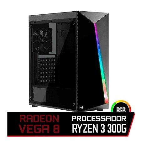 PC GAMER FLITZ - RYZEN 3 3200G, VEGA 8, AB350M, 8GB DDR4 (DUAL CHANNEL), SSD 240GB