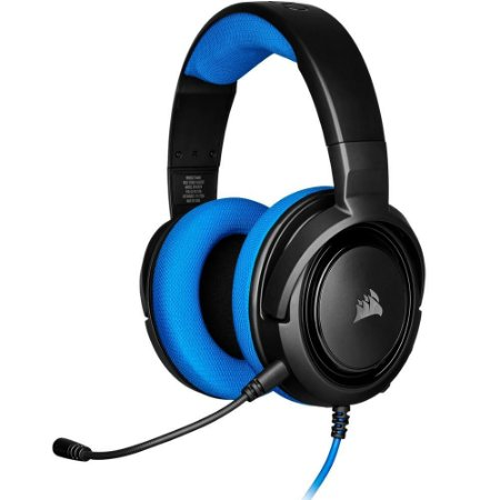 Headset Corsair HS35 Gaming Blue PC, PS4, XBOX One, Switch CA-9011196-NA