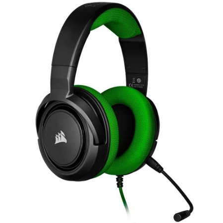 Headset Corsair HS35 Gaming Green PC, PS4, XBOX One, Switch CA-9011197-NA
