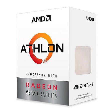 Processador AMD Athlon 3000G 3.5GHz 4Mb Cache AM4 YD3000C6FHBOX