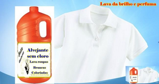 Alvejante Sem Cloro pra Roupa Branca e Colorida Perfumado faz 150 Lts