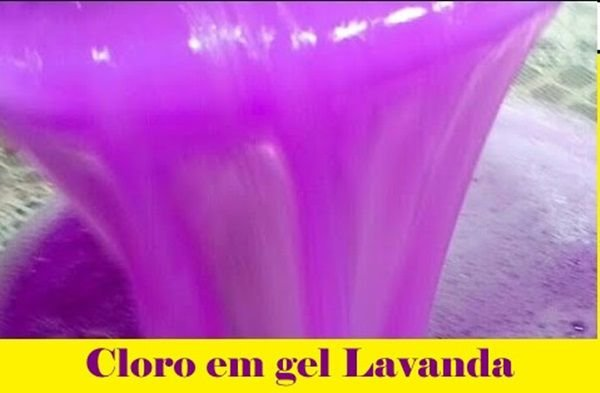 Cloro em Gel Lavanda faz 50 litros