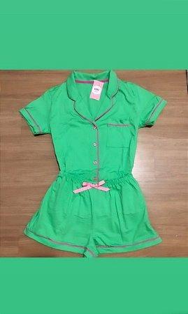 Pijama Premium Verde 100% Algodão