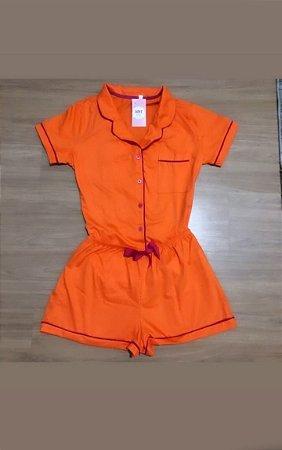 Pijama Premium Laranja 100% Algodão