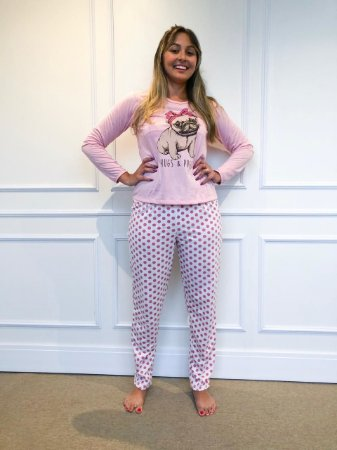 212080a74 Pijama Calça Pug rosa - lovi lingerie