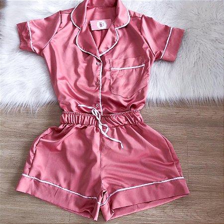 Pijama Premium Rosa Seco