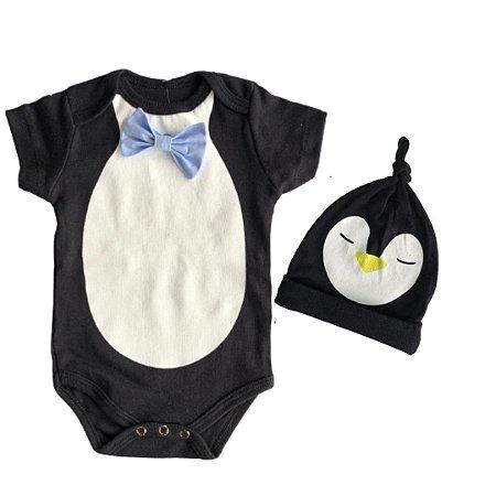 Body Pinguim com gravatinha