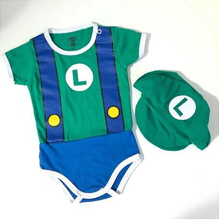 Body Luigi com boina