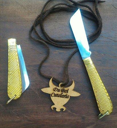 Canivete Tipo Corneta Dourado