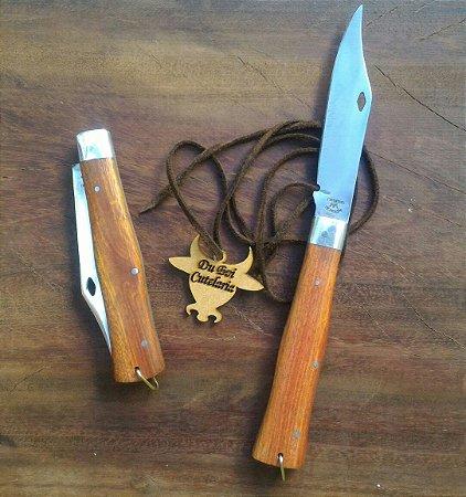 Canivete Churrasqueiro Cabo de Madeira