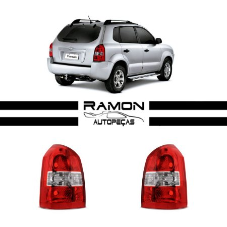 Lanterna Traseira Hyundai Tucson 2004 2005 2006 2007 2008 2009 2010 2011 2012 2013 2014 2015 Bicolor