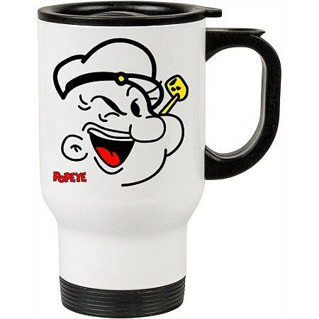 Caneca Térmica Branca Popeye o Marinheiro 01